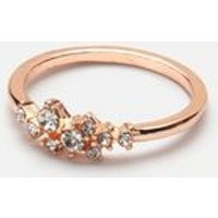 Rose Gold Diamante Ring New Look