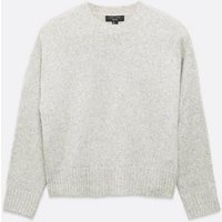 Petite Pale Grey Cropped Jumper New Look