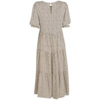 Off White Abstract Spot Smock Midi Dress New Look