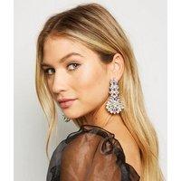 Multicoloured Gem Statement Earrings New Look