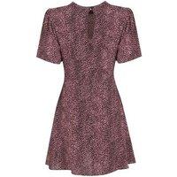 Tall Pink Animal Print High Neck Mini Dress New Look