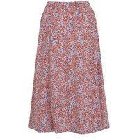 JDY Pale Blue Floral Midi Skirt New Look