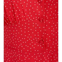 Red-Spot-Button-Front-Tea-Dress-New-Look