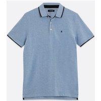 Men's Jack & Jones Pale Blue Tipped Polo Shirt New Look