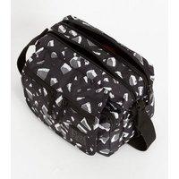 Artsac Black Geometric Small Cross Body Bag New Look