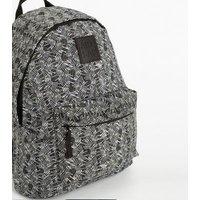 Artsac Black Line Print Backpack New Look