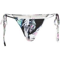 Wolf & Whistle White Tropical Tie Side Bikini Bottoms New Look