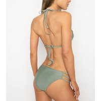 Wolf & Whistle Green Ring Side Bikini Bottoms New Look