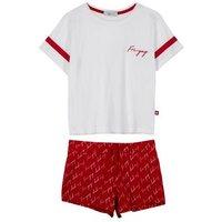 Girls White Fri-yay Slogan Short Pyjama Set New Look