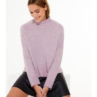 Lilac High Neck Jumper New Look