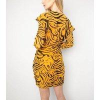 Another-Look-Yellow-Zebra-Print-Mini-Dress-New-Look