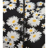 Black Daisy Print Strappy Maxi Dress New Look