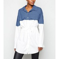 Cameo Rose Blue 2-In-1 Shirt New Look