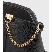 Black Faux Snake Mini Cross Body Bag New Look Vegan