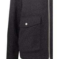 Grey Faux Wool Teddy Collar Harrington Jacket New Look
