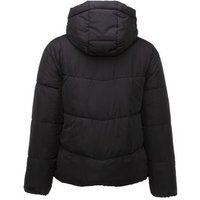 Black Hooded Boxy Puffer Jacket New Look