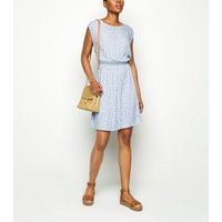 Apricot Pale Blue Ditsy Floral Mini Dress New Look