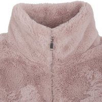 Pale Pink Faux Fur High Neck Jacket New Look