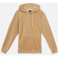 Men's Only & Sons Stone Cord Hoodie New Look