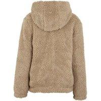 Girls Stone Teddy Hooded Jacket New Look