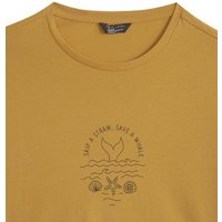 Girls Mustard Save a Whale Slogan T-Shirt New Look