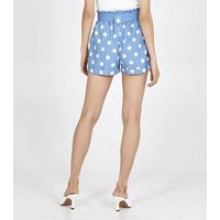 Pink Vanilla Blue Spot Belted Shorts New Look