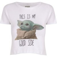 Girls White Star Wars Baby Yoda Logo T-Shirt New Look