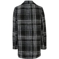 Black Check Double Breasted Blazer New Look