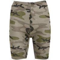 Brown Camo Cycling Shorts New Look