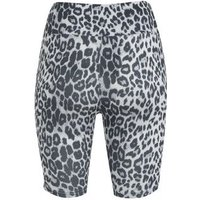 White Leopard Print Cycling Shorts New Look