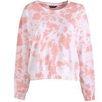 Mid Pink Tie Dye Sweatshirt New Look