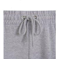Petite Grey Cuffed Tie Waist Joggers New Look