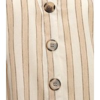 Blue Vanilla Cream Stripe Button Up Dress New Look