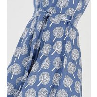 Blue Vanilla Pale Blue Tree Print Dress New Look