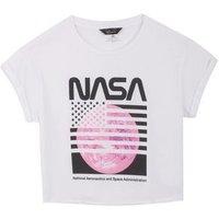 Girls White NASA Flag Logo T-Shirt New Look