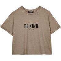 Girls Light Brown Be Kind Slogan T-Shirt New Look
