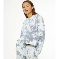 Girls Light Grey Tie Dye Sweatshirt New Look