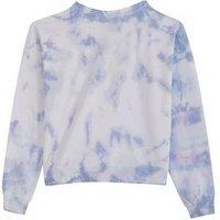 Girls Pale Blue Tie Dye Sweatshirt New Look