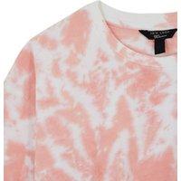 Girls Pink Tie Dye Sweatshirt New Look