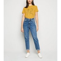 Mustard Mystic Face Print T-Shirt New Look