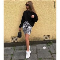 Cameo Rose Black Zebra Print Cycling Shorts New Look
