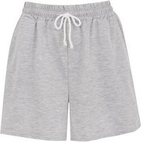 Cameo Rose Pale Grey Jersey Shorts New Look