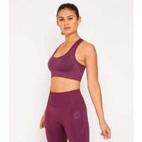 GymPro Dark Purple Seamless Sports Bra New Look