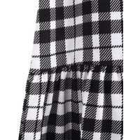 Girls White Check Tiered Dress New Look