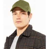 Olive Canvas Twill Cap New Look