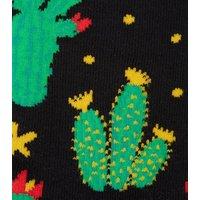 4 Pack Black Cactus Socks New Look
