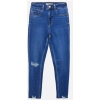 Petite Bright Blue High Waist Hallie Super Skinny Jeans New Look