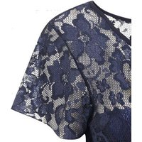 Mela Navy Lace Top Tapered Jumpsuit New Look