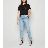 Black NYC Slogan T-Shirt New Look