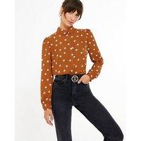 Rust Spot Long Sleeve Shirt New Look